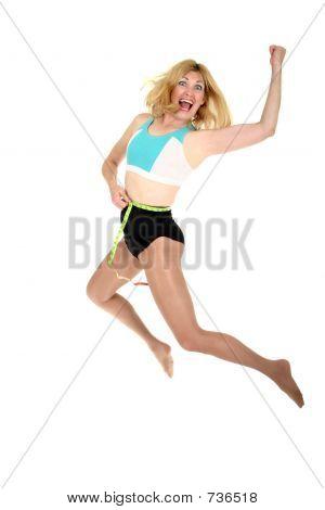 Jumping for Joy at Weight Loss 1