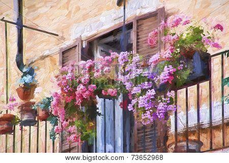Impressionist Art Of Flowers