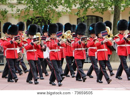 British Queen Guards Marching Band