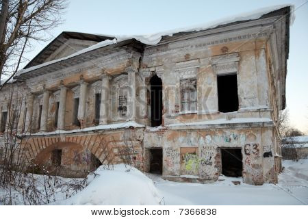Desolated Classical Architecture Building, Vologda, Russia