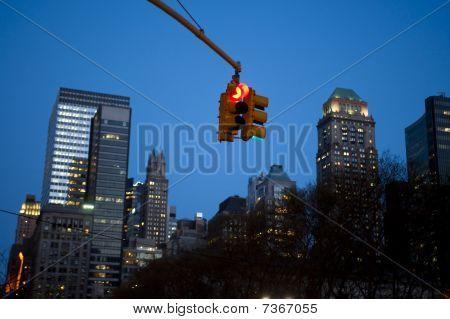Stoplight, New York City, Night