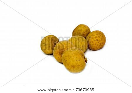 The longan isolated on the white background.