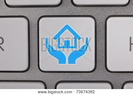Real Estate Home on Keyboard