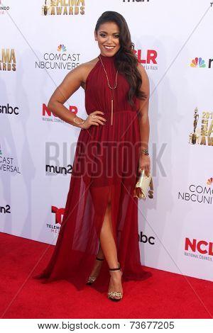 LOS ANGELES - OCT 10:  Vivian Lamolli at the ALMA Awards Arrivals 2014 at Civic Auditorium on October 10, 2014 in Pasadena, CA