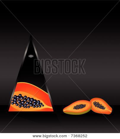 tarjeta con papaya