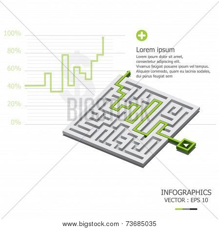 Maze Graph Up Business Infographic