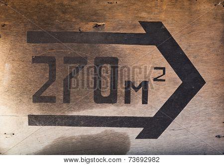 Sign Arrow 270 M