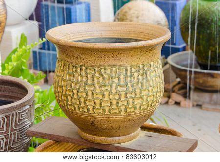 Native Vase Of Thai Pottery.