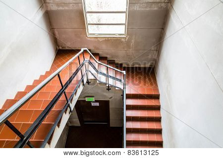 Quarry Tile Staircase