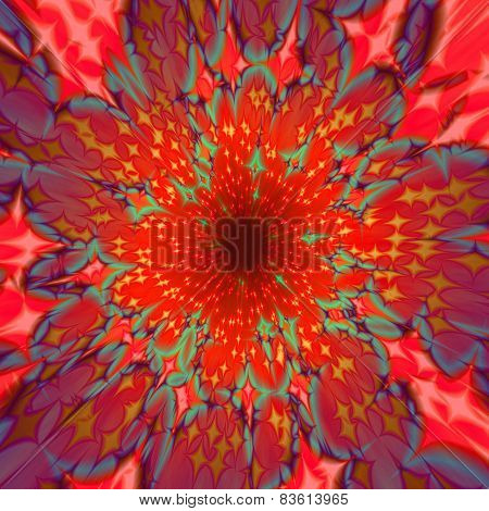 Abstract centralized reddish background