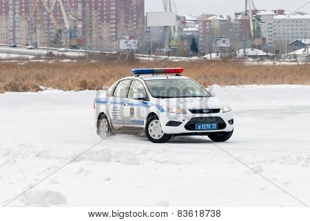 Car competitions for police officers