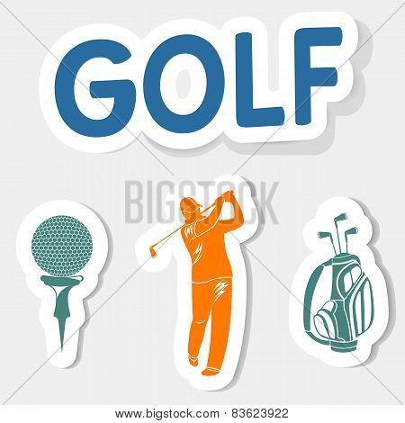 Vector logo golfl on a light background