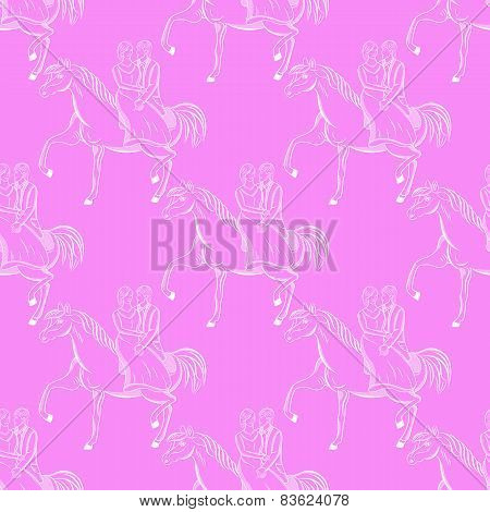 Vector Romantic seamless pattern