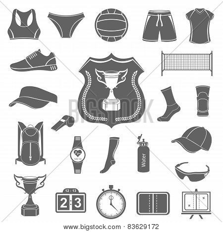 Vector Set Of Icons Volleyball