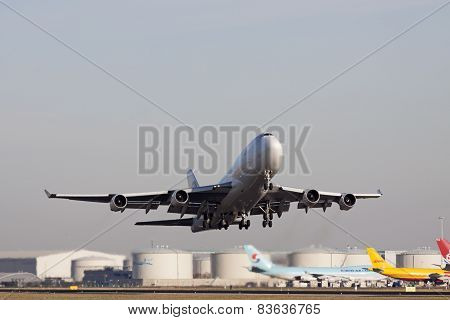 Boeing 747 cargo plane take off