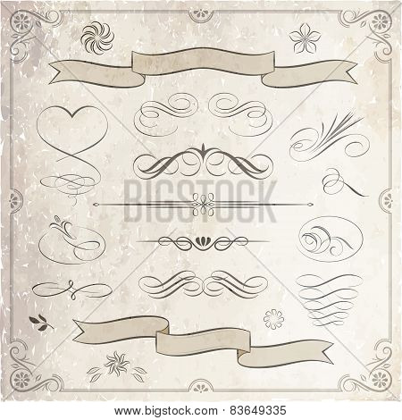 Calligraphic And Decorative Elements Collection