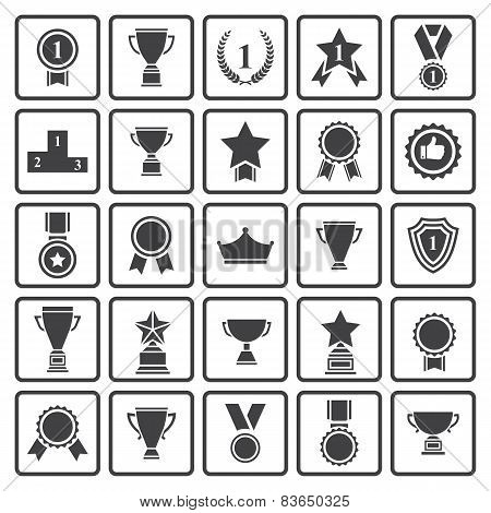 Black avards  icons set