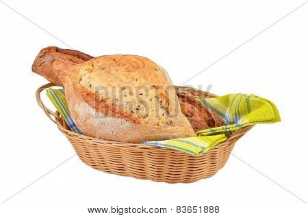 Loaves of bread in the basket