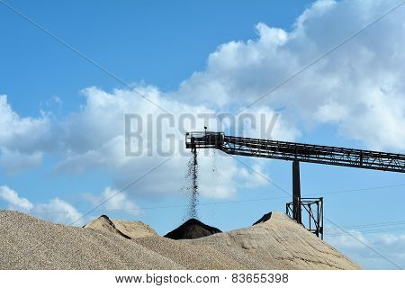 quarrying of sand and gravel