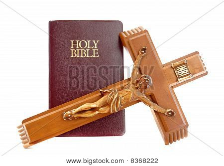 Holy Bibile With Crucifix