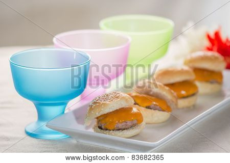 trundle in detail dish food catering and blur background