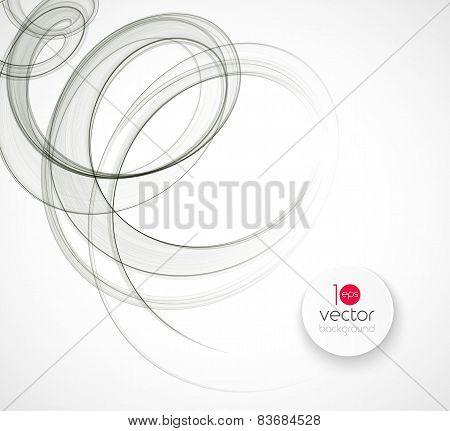 Abstract transparent wave template  background brochure design
