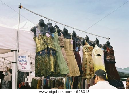 dresses at market