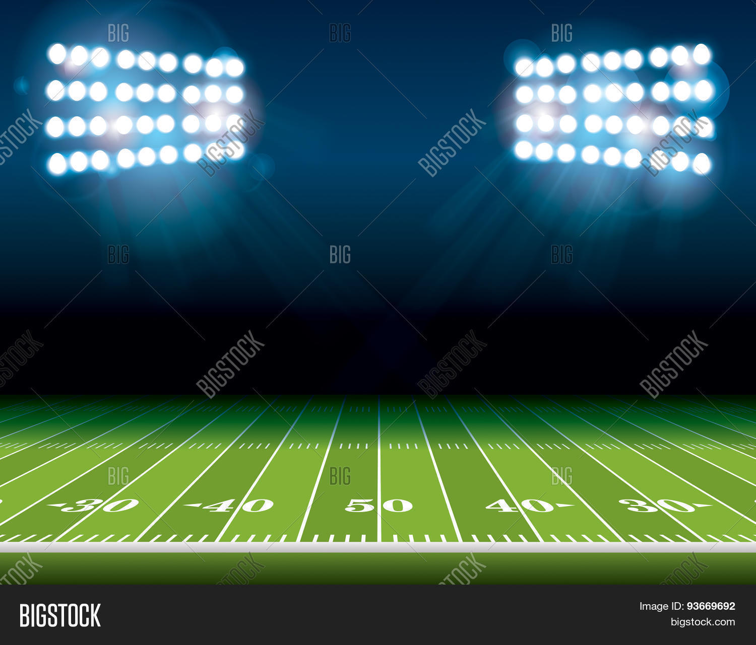 Football Stadium Night Lights: American Football Vector & Photo (Free Trial)
