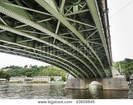 Under the bridge in Prague