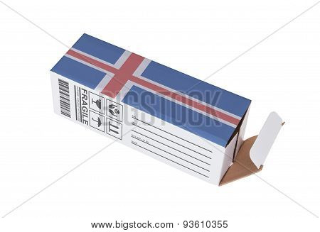 Concept Of Export - Product Of Iceland