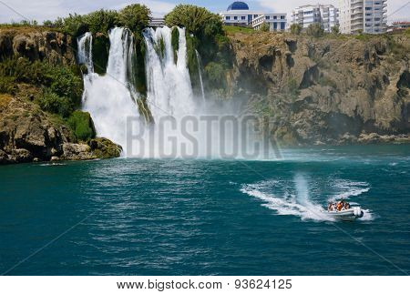 Antalya, Turkey, June 5, 2015. Duden waterfall (Karpuzkaldiran)