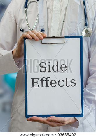 Doctor Is Warning Against Side Effects Of Medicine