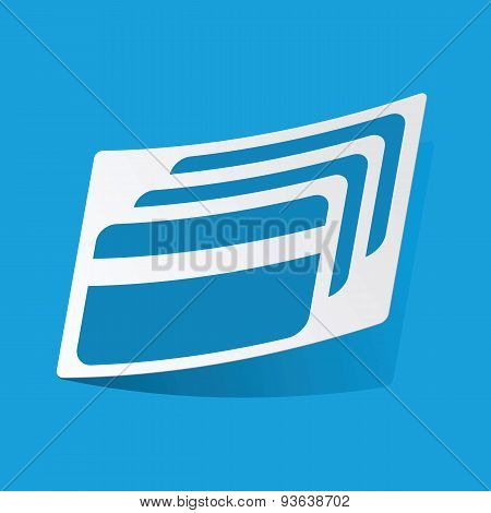 Credit card sticker