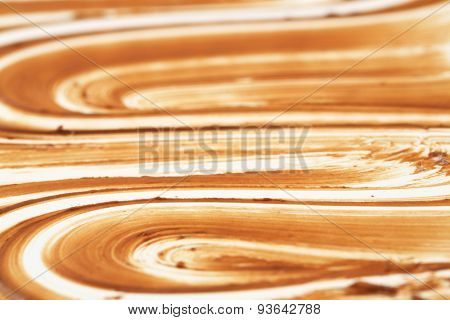 detail of chocolate spread daub backgrounds