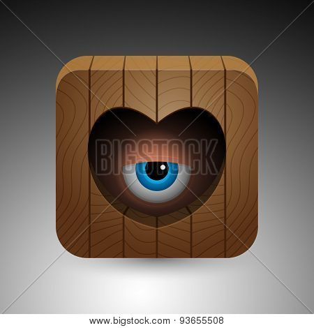 Cartoon eye icon