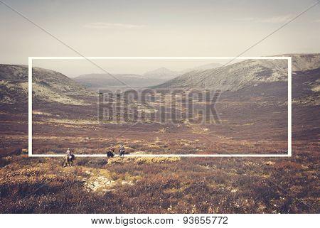 Horseman Landscape Mongolian Culture Outdoors Concept