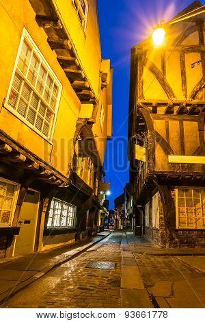 The Shambles at dusk, York