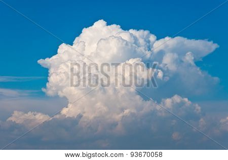 Thunderclouds And Blue Sky.