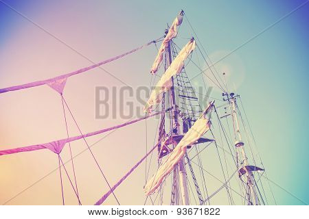 Vintage Retro Filtered Picture Of A Mast.