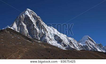 Pumo Ri And Lingtren, View From Gorak Shep