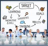 Target Aspiration Goal Achievement Vision Concept poster