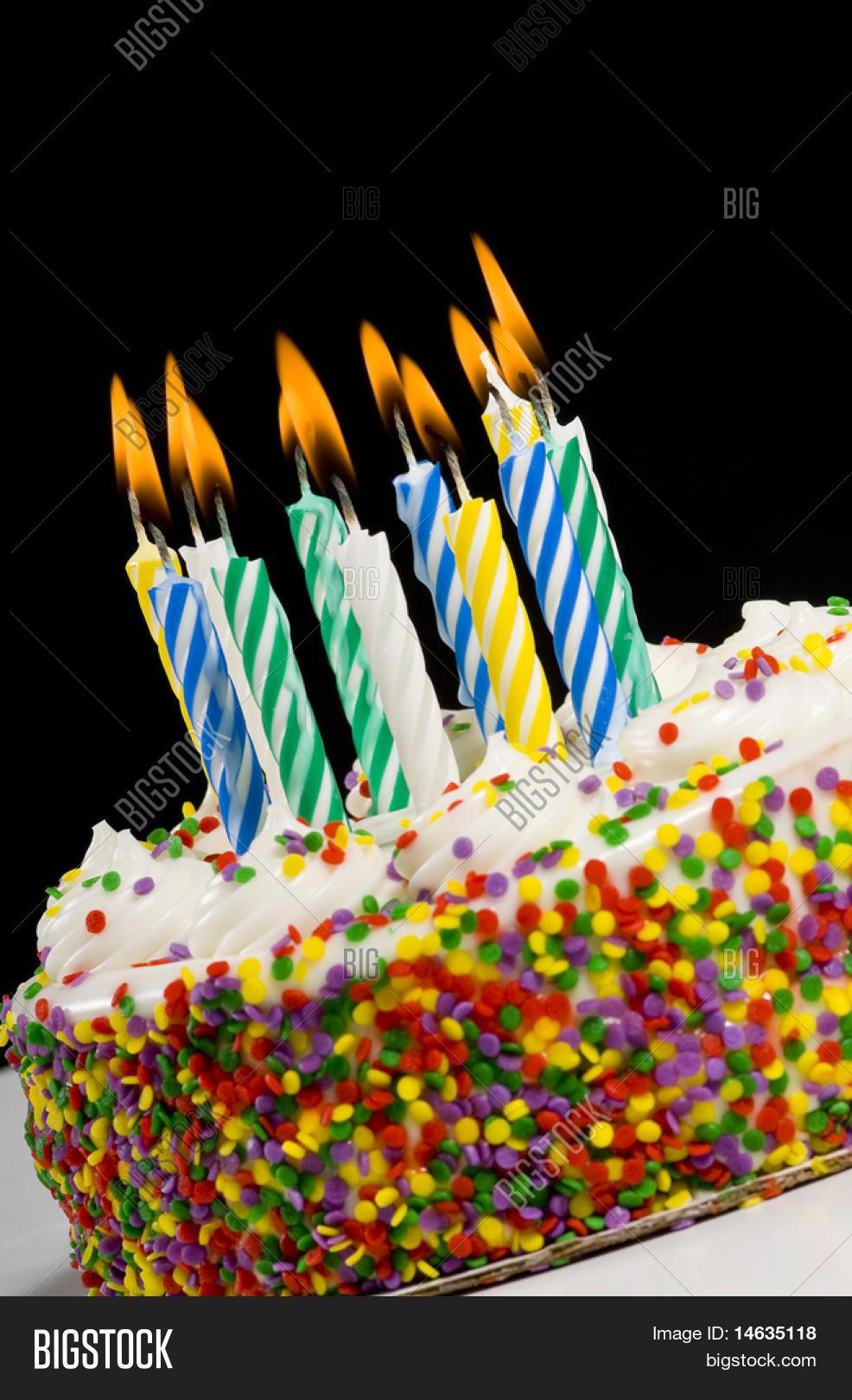 Colorful Birthday Cake Image Photo Free Trial Bigstock