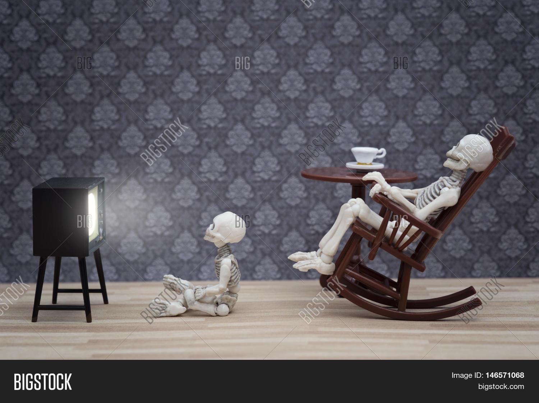Skeleton Rocking Chair Image Photo Free Trial Bigstock