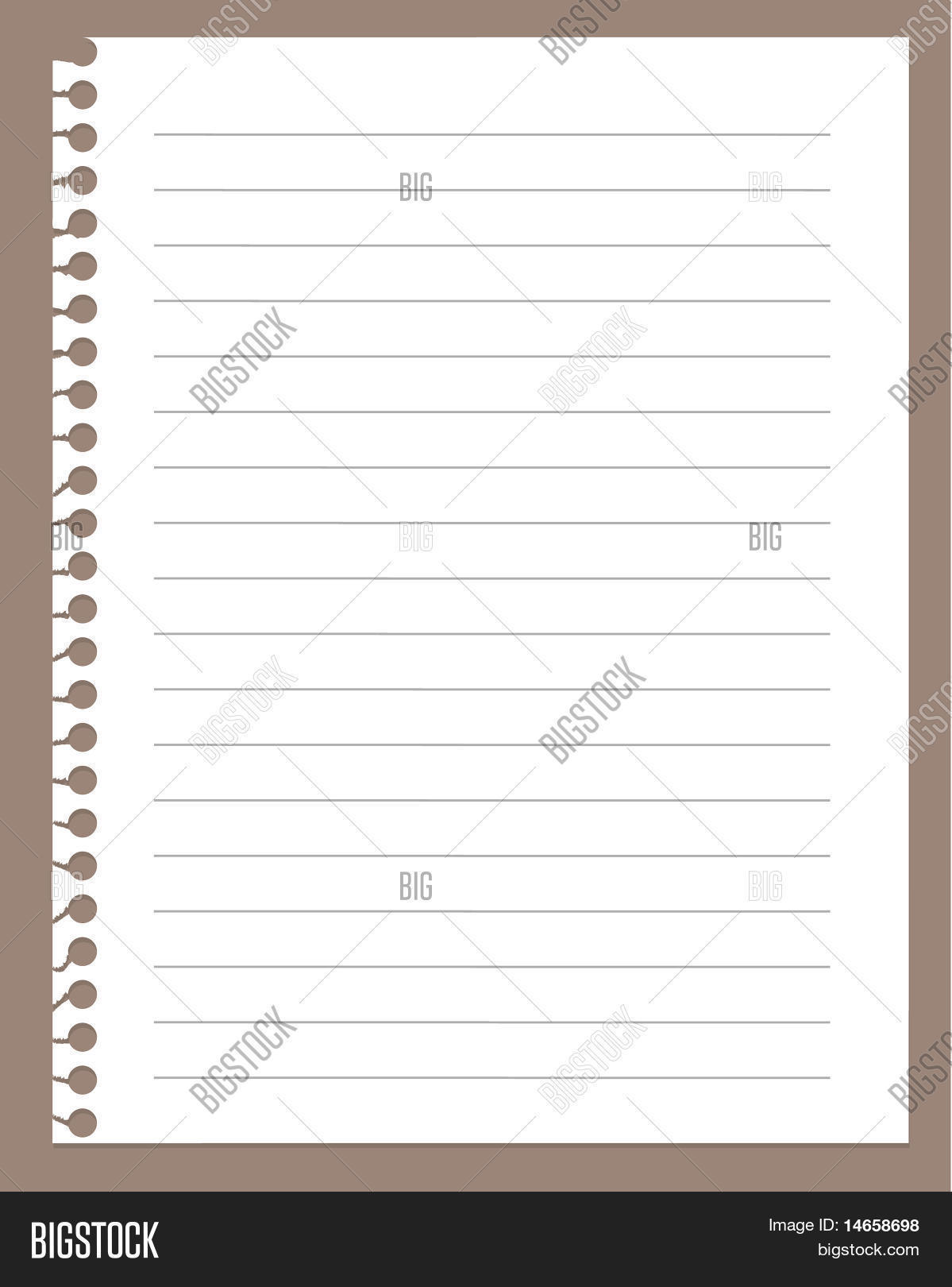 spiral notebook paper vector & photo (free trial) | bigstock