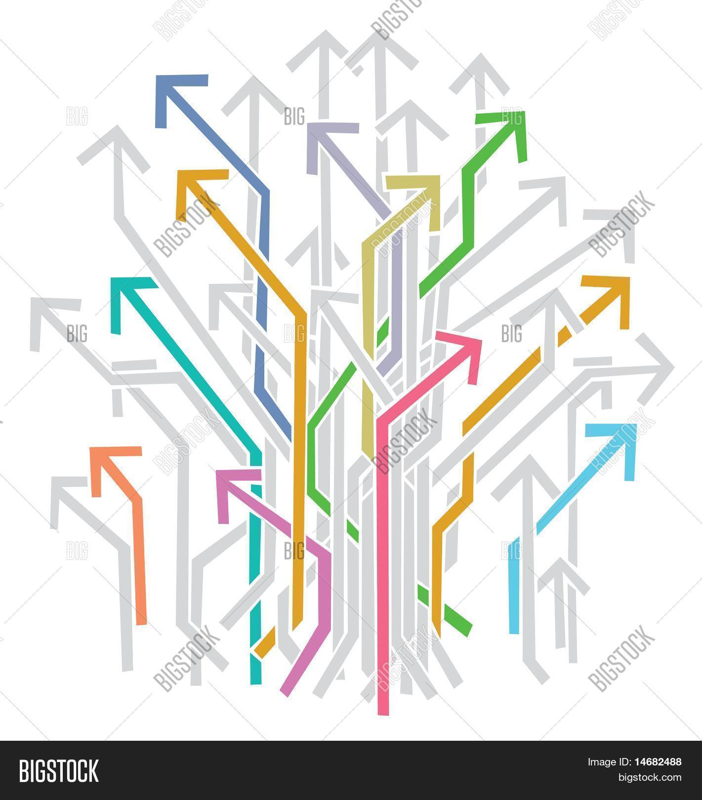 Bunch Colorful Arrows Vector & Photo (Free Trial) | Bigstock