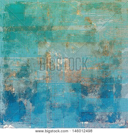 Weathered grunge elements on vintage texture for your design. Aged background with different color patterns: yellow (beige); brown; green; blue; gray; cyan