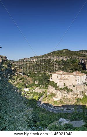 Cuenca (Castilla-La Mancha Spain) the historic convent of San Pablo nowadays the parador de Cuenca