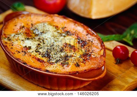 Lasagna (italian Leafy Meat Pie And Cheese Parmigiano)