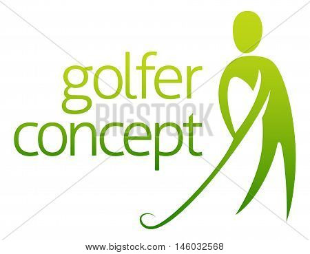 Golfer Concept Abstract