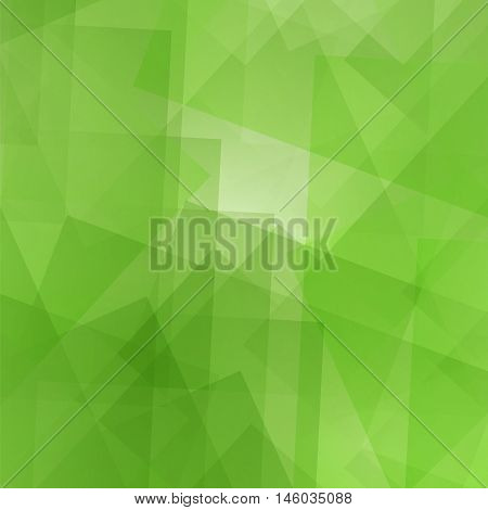 Abstract Green Pattern. Geometric Digital Futuristic Background